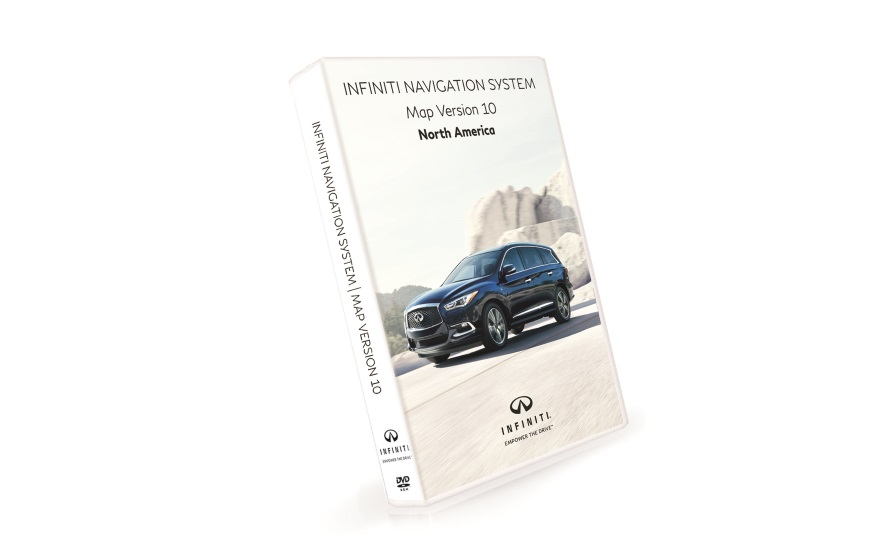 INFINITI Navigation Third Generation DVD Map Update Version 10 for vehicles purchased in United States and Canada product photo