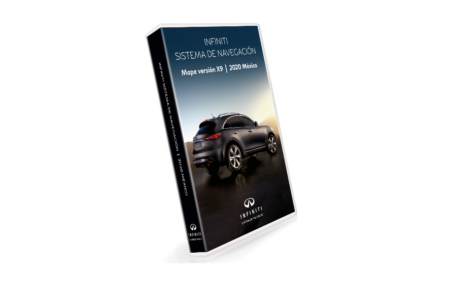 INFINITI Navigation Third Gen DVD Map Update 2020 for vehicles purchased in Mexico product photo
